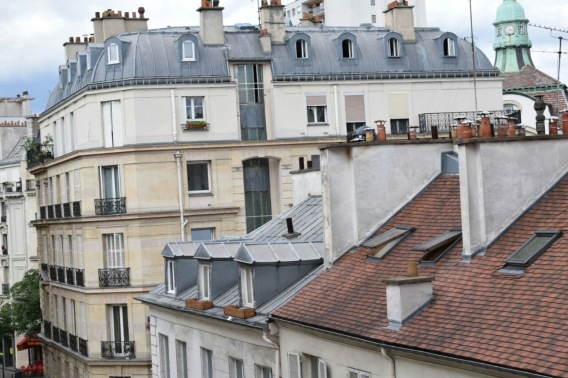 View from our room window (Hotel du Nord et ell Est)